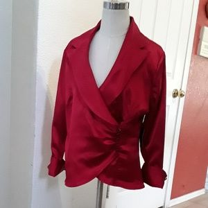 Metaphor Red explosion blouse NWT